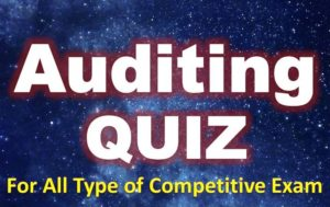 Auditing Quiz – 23 April