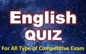 Fill in The Blanks Quiz (English  Grammar) – Test 3
